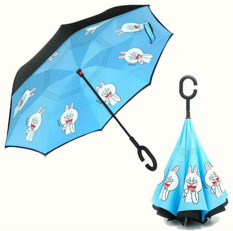 Купить онлайн Обратный зонт ReU Anime (арт.RU-12) в магазине Зонтофф.