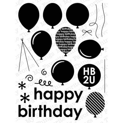 """Силиконовые штампы """"Party Balloons"""""""