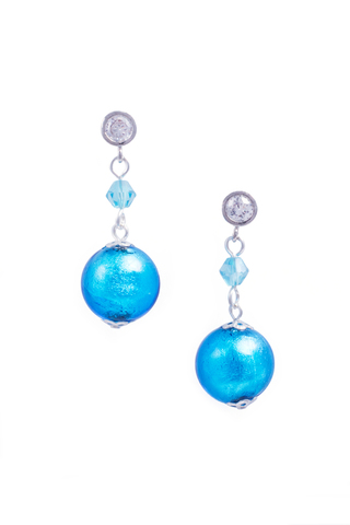Серьги Perla Appeso Argento голубые