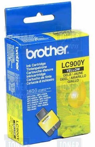 Brother LC900Y желтый картридж для DCP-110/115/120/MFC-210/215/FAX-1840. Ресурс 450 листов (5% заполнение)