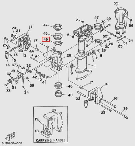 Хомут стяжной для лодочного мотора T3 SEA-PRO (15-49)
