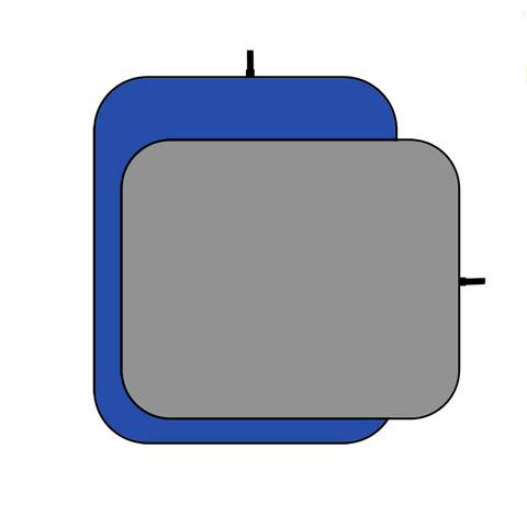 Фон двусторонний тканевый Fotokvant BG-1520 Blue Gray
