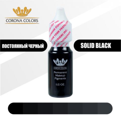 Пигмент Corona Colors Постоянный Черный (Solid Black) 15 мл
