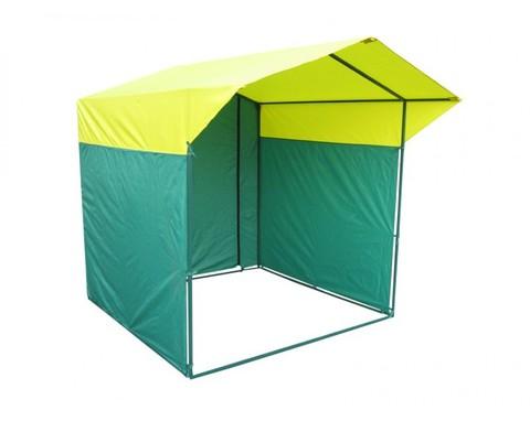 Торговая палатка Митек «Домик» 2 x 2 К из квадратной трубы 20х20 мм, тент ПВХ
