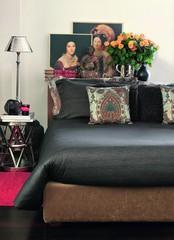 Постельное белье 2 спальное евро Svad Dondi Finiseta темно-коричневое