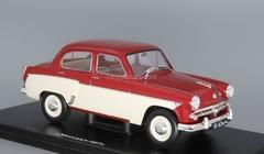 Moskvich-407 red-beige 1:24 Legendary Soviet cars Hachette #12