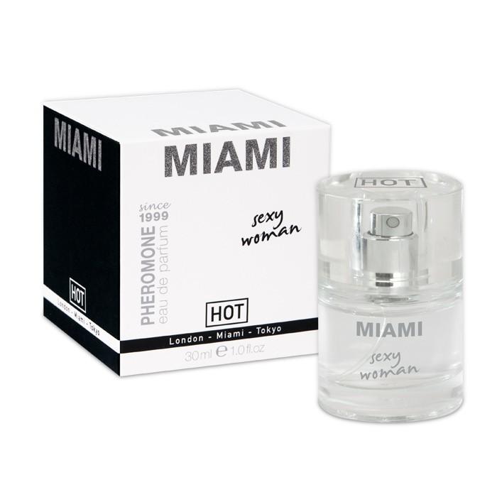 Духи и смазки для женщин: Женские духи с феромонами Miami Sexy Woman - 30 мл.