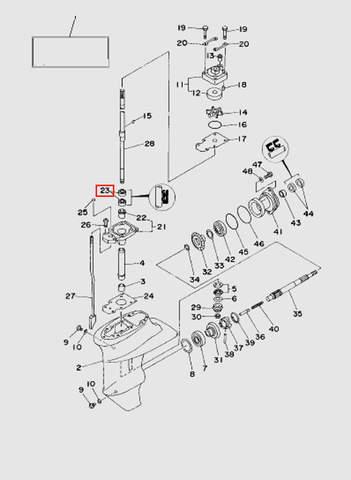 Сальник вертикального вала 20х30х6  для лодочного мотора T15, OTH 9,9 SEA-PRO (16-23)