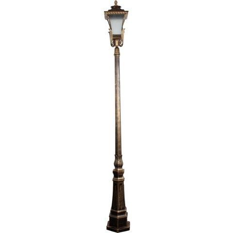 Светильник садово-парковый, 60W 230V E27 IP44 черное золото, PL4027 (Feron)