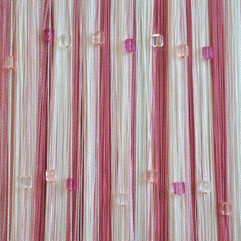 Радуга со стеклярусом Белая, фуксия, розовая. Ш-300см., В-280см. Арт.1-5-6