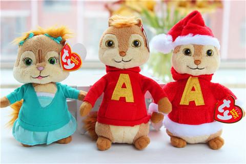 Alvin and The Chipmunks - Christmas Alvin, Eleanor, Alvin Plush