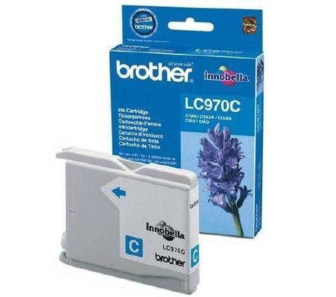 Brother LC970C голубой картридж для Brother DCP-135/135C/135CR/150/150C, МФУ MFC-235/235C/260/260C. Ресурс 300 страниц. (5% заполнение)