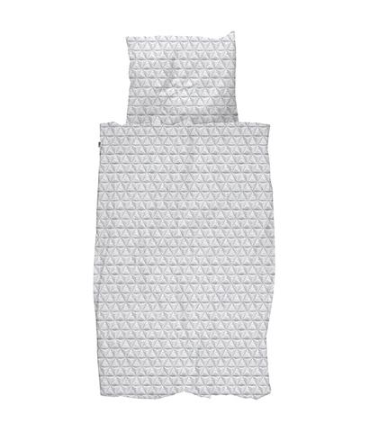 Комплект постельного белья Оригами серый 150x200см, Snurk