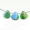 "Бусина ""Ракушка""  (цвет - зелено-голубой) 15х15 мм , 10 штук"