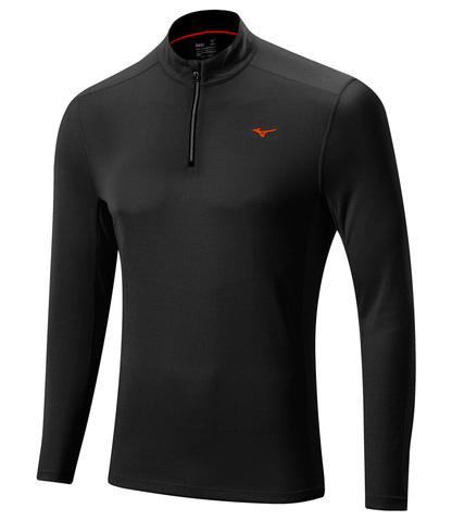 Мужская беговая рубашка Mizuno WarmaLite 1/2 Zip LS Tee (J2GA5509 09) черная