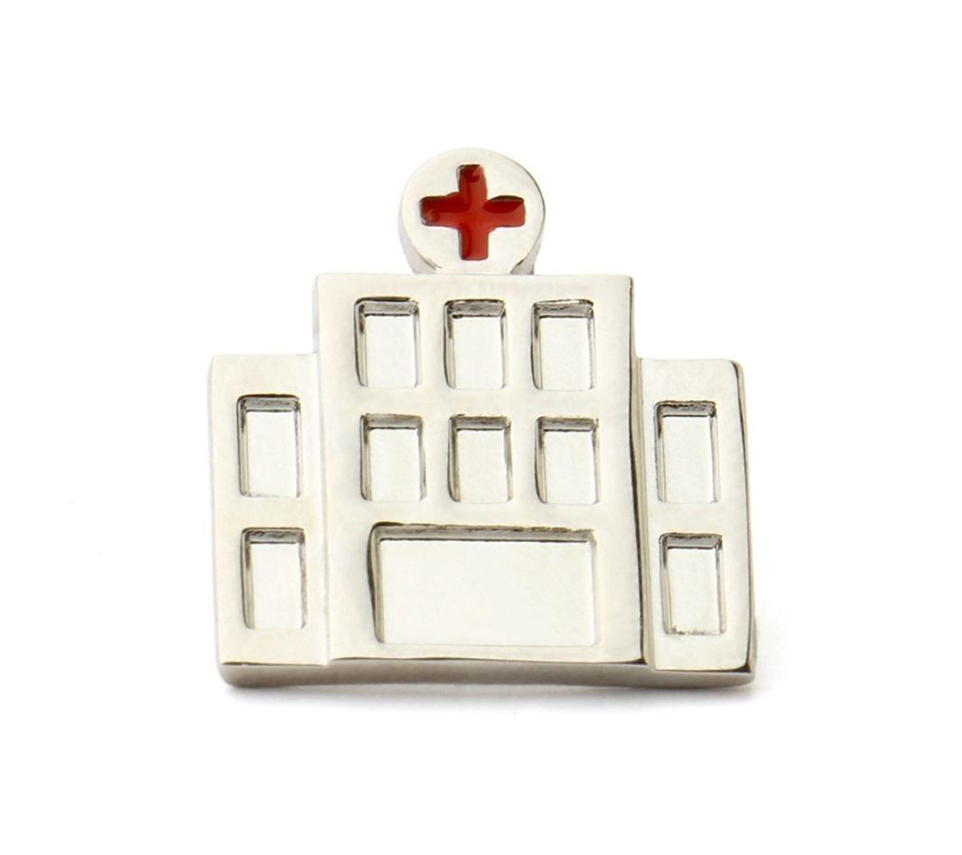 Брошь Больница (серебряный цвет)