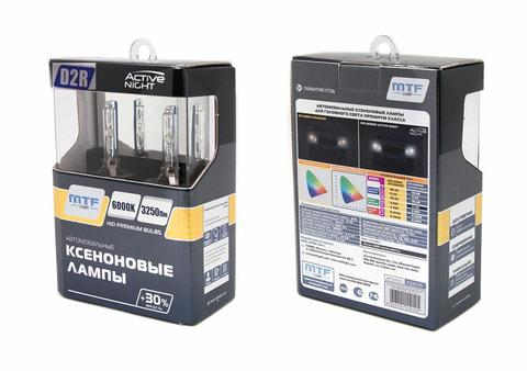 Лампа ксенон D2R (6000K) MTF Light ACTIVE NIGHT +30%