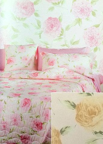 Постельное белье 2 спальное евро Caleffi Fiori розовое