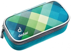 Пенал для школы Deuter School Pencil Case petrol-crosscheck