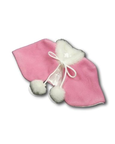 Пелерина - Розовый. Одежда для кукол, пупсов и мягких игрушек.