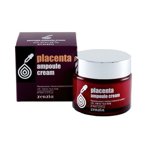 Zenzia Крем для лица с плацентой Placenta Ampoule Cream 70мл