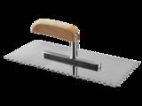 Гладилка ЗУБР ЭКСПЕРТ нержавеющая с деревянной ручкой, зубчатая