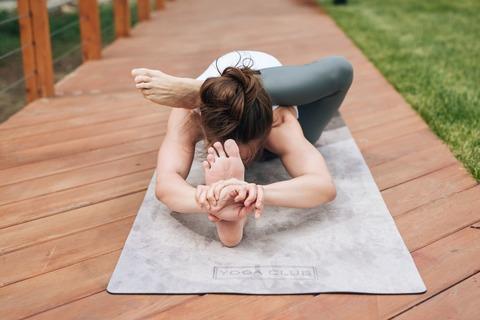 Коврик для йоги My Way 183*61*0,3см из микрофибры и каучука