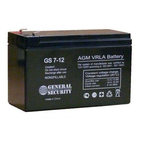 Аккумулятор GS 7-12 (12В 7А/ч)