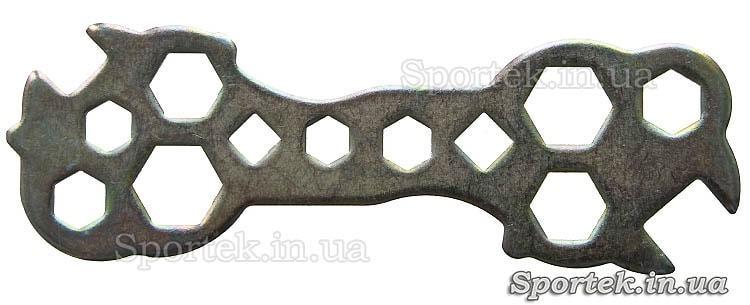 Универсальный велоинструмент.  Стальной гаечный ключ для ремонта и обслуживания велосипеда 15 в 1