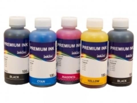 Комплект чернил Inktec для Canon PIXMA TS6140, TS8140, TS9140, TR8540, TR7540. 5 цветов по 100 мл.