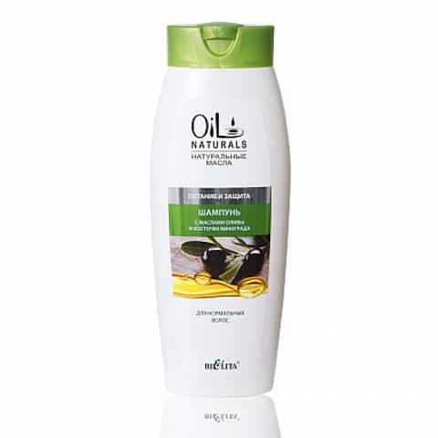 Белита Oil Naturals Шампунь с маслами оливы и косточек винограда Питание и Защита 430мл