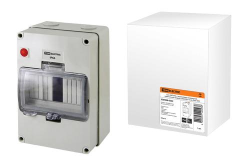 Бокс КМПнИ-8, с индикатором, блокировкой, герметичными вводами, 200х200х110 мм, IP66, TDM