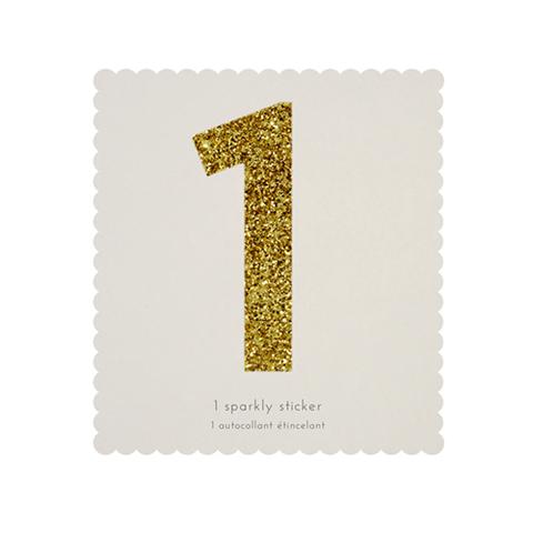 Стикер 1, мерцающее золото