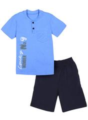 BKD08-028п-5 комплект детский, темно-синий/голубой