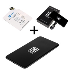 Комплект для Samsung Galaxy S5: беспроводная зарядка Zentu S7 black + приемник-ресивер Qi