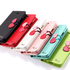 Apple iPhone 5/5s/5SE Чехол книжка Cherry (Кожа) Белый