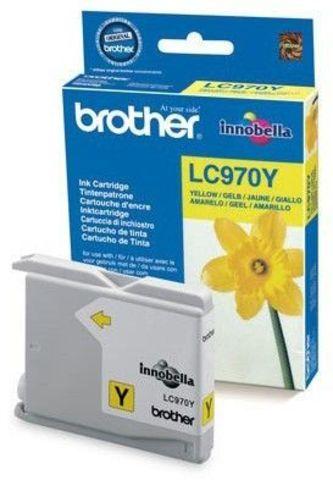 Brother LC970Y желтый картридж для Brother DCP-135/135C/135CR/150/150C, МФУ MFC-235/235C/260/260C. Ресурс 300 страниц. (5% заполнение)