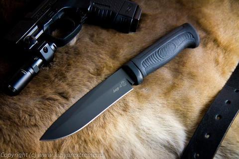 Тактический нож Амур-2 Черный Эластрон