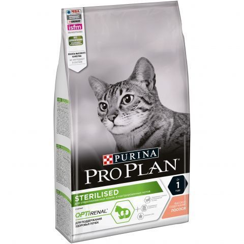 Pro Plan сухой корм для стерилизованных кошек (лосось) 1,5 кг