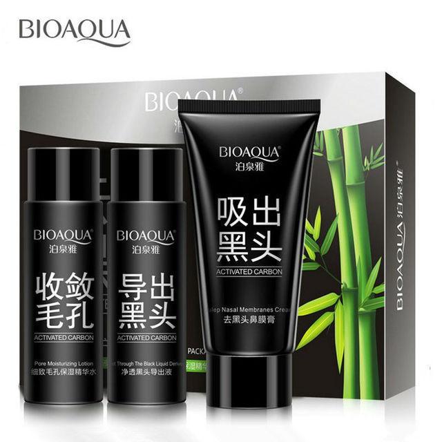 Черная маска Bioaqua 3в1 для Глубокого Очищения
