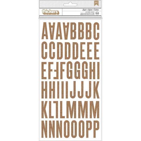Стикеры алфавит пробковые