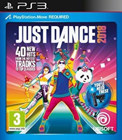 Sony PS3 Just Dance 2018 (только для PS Move, английская версия)