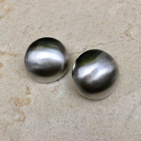 Серьги Полусфера, серебряный цвет