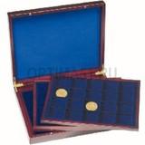 Презентационный кейс VOLTERRA TRIO de Luxe, 3 деревянных лотка на 20 квадратных ячеек 48x48 mm,