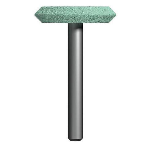 Шарошка абразивная ПРАКТИКА карбид кремния, дисковая 32х6 мм, хвост 6 мм, блистер