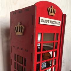 Коробка из фанеры Телефонная будка для алкоголя Ballantines 1 л