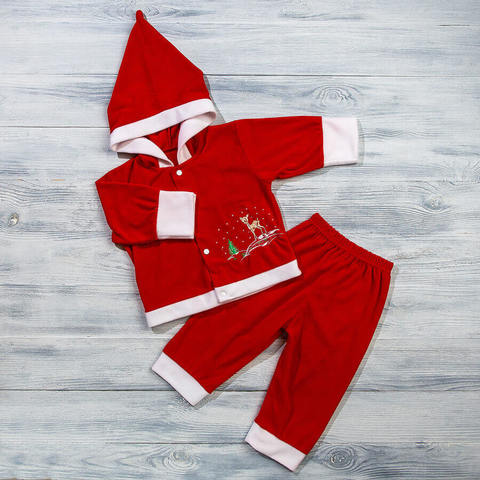 Новогодний костюм из флиса для новорожденных