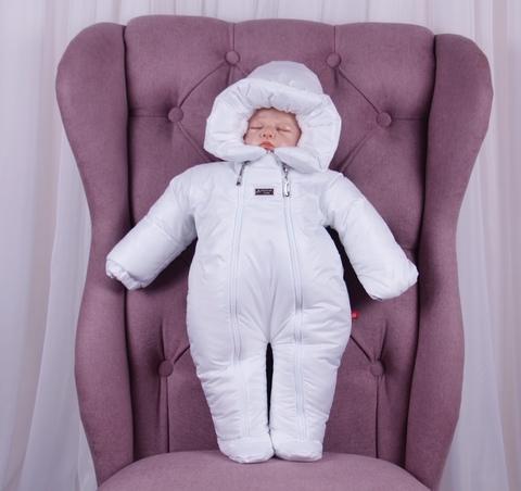 Зимний комбинезон для новорождённых Вьюга белый