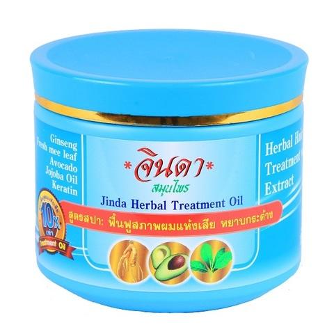 Восстанавливающая маска для роста волос Jinda 400 мл Jinda herbal treatment oil (blue pack)