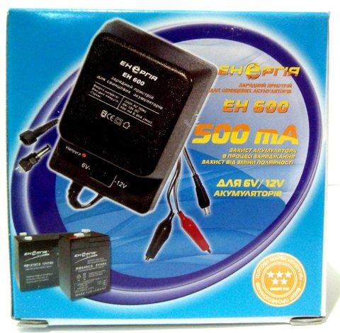 Зарядное устройство Энергия ЕН-600 SLA для свинц. акк., 6V/12V, 500mAh